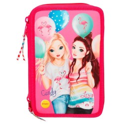 TOPModel 44-pieces Triple School Set Pencil Case With LED