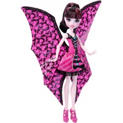 Monster High Ghoul-to-Bat-transformation Draculaura Doll Dukke 30cm
