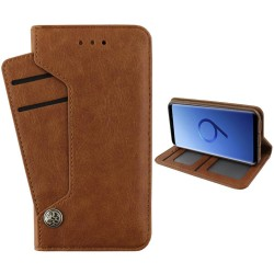 Colorfone Wallet Deluxe Samsung Galaxy S9 Plus Fodral Brun