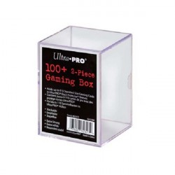 Ultra Pro - Durable clear box - 2 Piece Storage Gaming Box