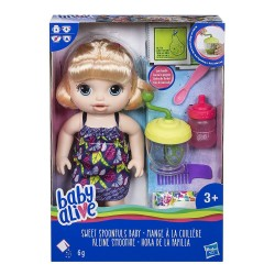 Baby Alive Sweet Spoonfuls Baby Doll Girl Blonde Straight Hair 31cm