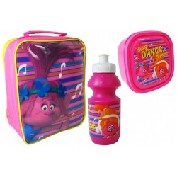 Trolls Bag with lunch box and water bottle