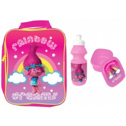 Trolls Rainbow Dreams Bag with lunch box and water bottle