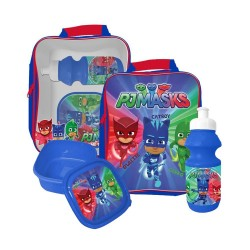 PJ Masks bag with lunch box and water bottle