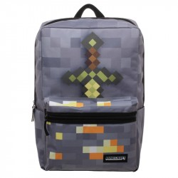 Minecraft Box Backpack With Sword School Bag 47x30x14cm