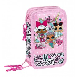 L.O.L. Surprise LOL 36-pieces Triple School Set Pencil Case Pink