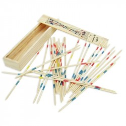 Mikado Game 41 Pcs.In Wooden Box Pick Up Sticks Game Children Play