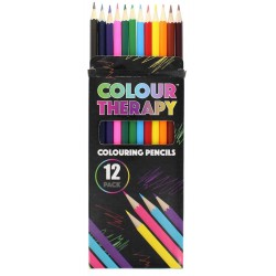 Colour Therapy 12-Pack Colour Pencils, Paint, Draw, Relax