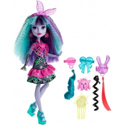 Monster High Twyla Electrified Hair-Raising Ghouls Doll 30cm