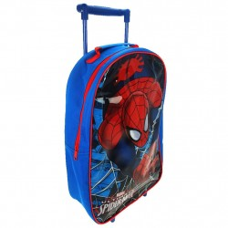 4 in 1 Set Spiderman Trolley Backpack Gym Bag Kids Matkalaukku Wallet