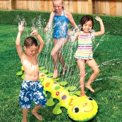 Banzai Caterpillar Backyard Critter Kids Sprinkler Summer Garden