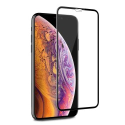 Full Screen iPhone XR Tempered Glass Screen Protector Black Retail