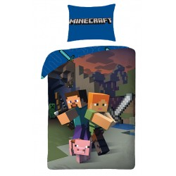 Minecraft Bed linen Duvet Cover 135x200 + 48 x 74cm