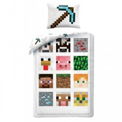 Minecraft Bed linen Duvet Cover 140x200 + 60 x 70cm