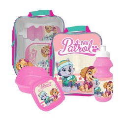 Paw Patrol Skye Everest bag with lunch box and water bottle PINK