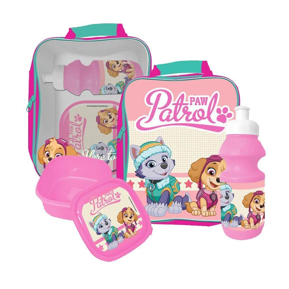 739e3350e268 Paw Patrol Skye Everest bag with lunch box and water bottle PINK Pa...