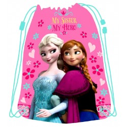 Disney Frozen Elsa Gym bag Sport Bag 42x33cm Hot Pink