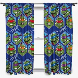 Turtles Ready Made Curtains 168cm x 183cm