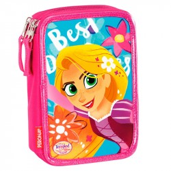 Disney Princess Rapunzel sammenfiltret 44-delt Triple Filled Penny Case School Set