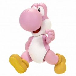 Nintendo Super Mario Pink Yoshi Figure With Mystery Accessory