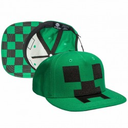 Minecraft Creeper Mob Hat Applique Cap One Size