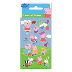 Peppa Pig Stickers Pack 6pcs Sheets
