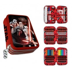 Star Wars 43-pieces Triple School Set Pencil Case