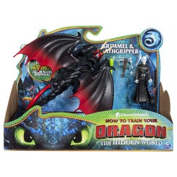 DreamWorks Dragons Deathgripper and Grimmel Poseable Figure