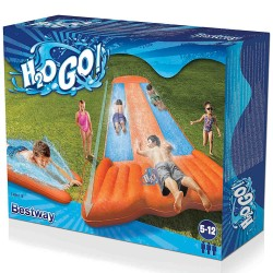 H2OGO! 5.49m Speed Ramp Triple Slide Trippel Glidbana H2OGO! Aqua Ramp Triple Slide Bestway 599,00 kr