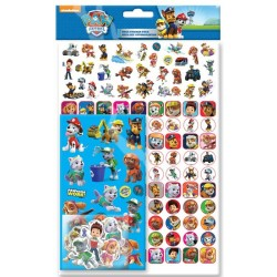 Paw Patrol Mega Stickers Pack 150pcs Fun Foiled Re-usable Tarroja Blue