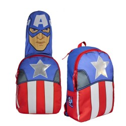 Avengers Captain America Backpack With Hood 37x30x12 cm