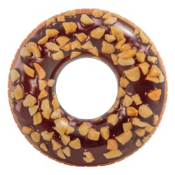 """Giant Donut Water Tube With Chocolate And Nut Glaze 115cm (45"""")"""