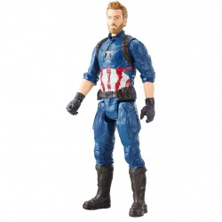 Marvel Titan Hero Series Captain America Figur Power FX Port