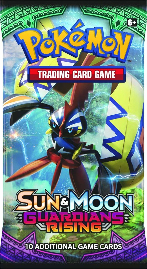 Pokemon S M Guardians Rising Booster Pack Cards 1 Pack