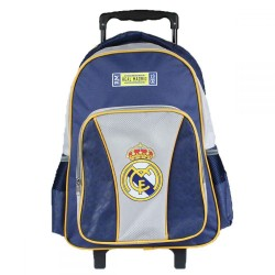 Real Madrid Trolley Travel Bag Detachable Backpack 43x32x18 cm