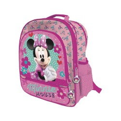 Disney Minnie Mouse Backpack School Bag Reppu Laukku 41x34x18cm