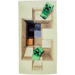 Minecraft Creeper Defeat Kids Beach Towel 70x140cm