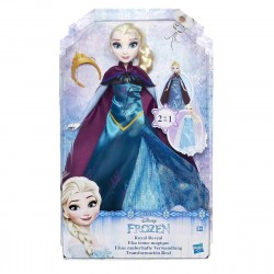 Disney Frozen Royal Reveal Elsa Doll 30cm 2in1 Dress