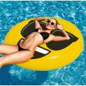 Emoji XL Inflatable Bed Floating Lounge Cool Face 140 cm