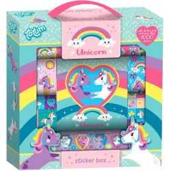 1000st Klistermärken Totum Unicorn Enhörning Sticker Box Med Ritblock Totum Unicorn Sticker Box Unicorn 179,00 kr product_red...