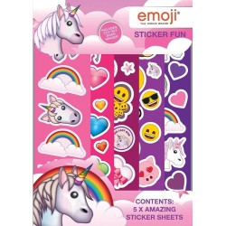 Emoji Unicorn Sticker Fun Stickers Set Klistermärken