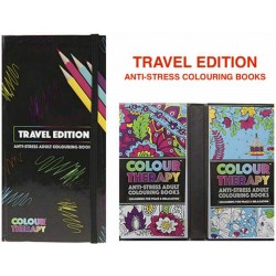 Travel Anti-Stress Colouring Book Set Mini 2x50 pages