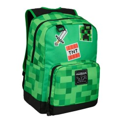 Minecraft Survival Badges Backpack School Bag 43x30x12cm