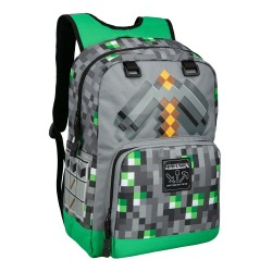 Minecraft Emerald Survivalist Backpack School Bag 43x30x12cm