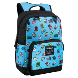 Minecraft Bobble Mobs Backpack School Bag 43x30x12cm