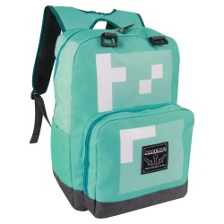 Minecraft Diamond School Bag Rygsæk Blå 44x31x14 cm