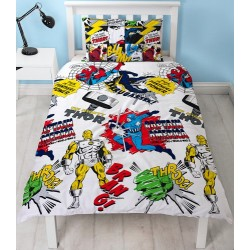 Marvel Avengers Scribble Bed linen Duvet Cover 135x200+48x74cm