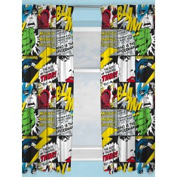 Marvel Avengers Scribble Character Ready Made Curtains 168cm x 183cm