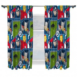Marvel Avengers Character Ready Made Curtains 168cm x 183cm