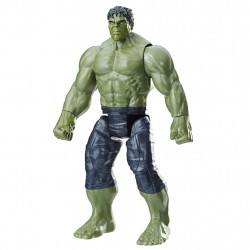 Avengers Infinity War Titan Hero Series Hulk Figur med Power FX Port